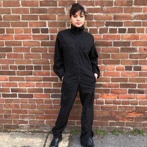 Other - 1980s Nylon Black Jumpsuit